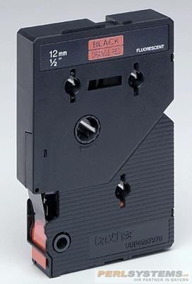 Brother TCB01 P-TOUCH 12mm Schwarz auf Signal Orange 6,7m laminated