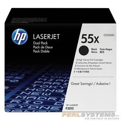 HP 55X Toner Black für LaserJet P3010 P3015 Doppelpack