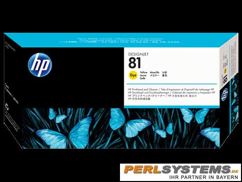 HP 81 Druckkopf incl. Reiniger Gelb DJ5000 Serie