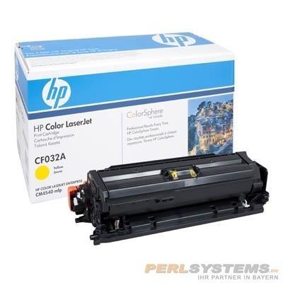 HP CF032A Toner Yellow für Color LaserJet CM4540