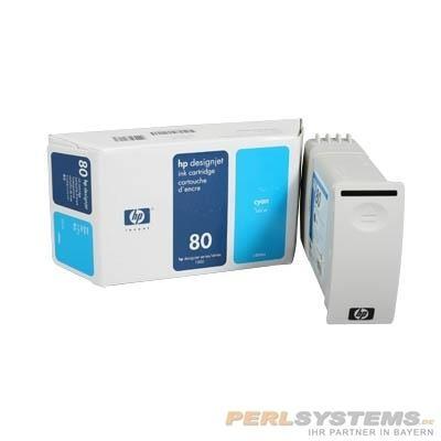 HP 80 Tinte Cyan für DesignJet 1050C 1055CM