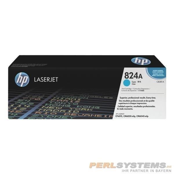HP 824A Toner cyan für Color LaserJet CP6015 CM6030 CM6040 CM4049