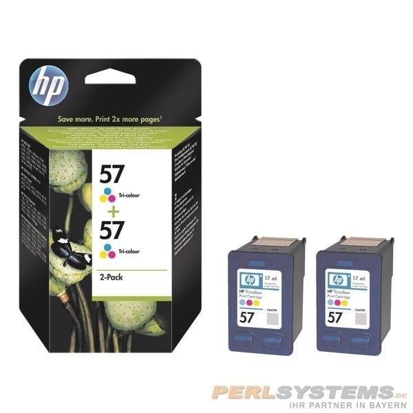 HP 57 Tinte Tri-Color DJ5550 No.57 Doppelpack