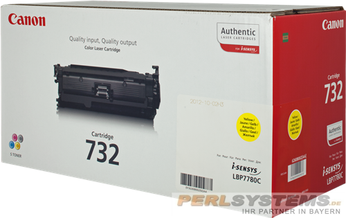 Canon 732 Toner Yellow 6260B002 LBP7780Cx