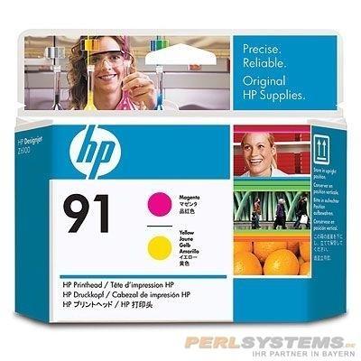 HP 91 Druckkopf Magenta / Gelb für DesignJet Z6100