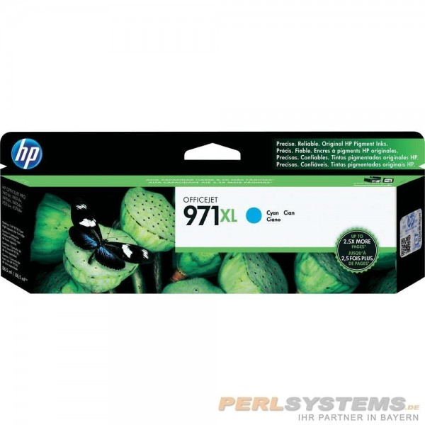 HP 971XL Cyan Tinte HP OfficeJet Pro X451 Pro X476 Pro X576