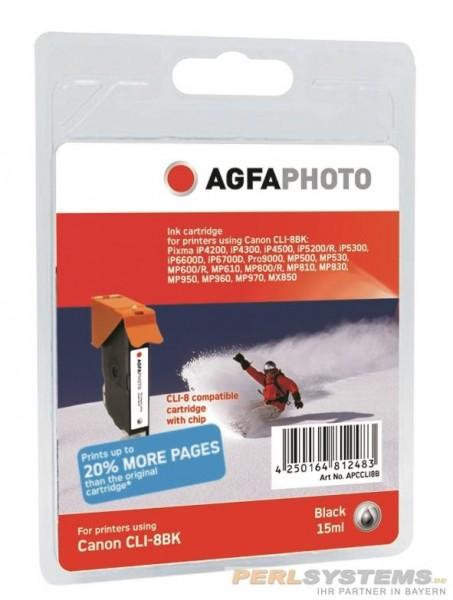 AGFAPHOTO CCLI8B Canon MP800 Tinte black