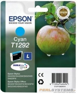 Epson Tinte Apfel Cyan T1292 Stylus Office BX625FWD, SX420