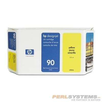 HP 90 Tinte Gelb 400ml für DesignJet 4000 4500 4020 4520