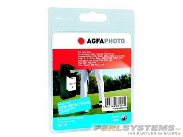 AGFAPHOTO HP15 Tinte DJ840C Tinte Black APHP15B