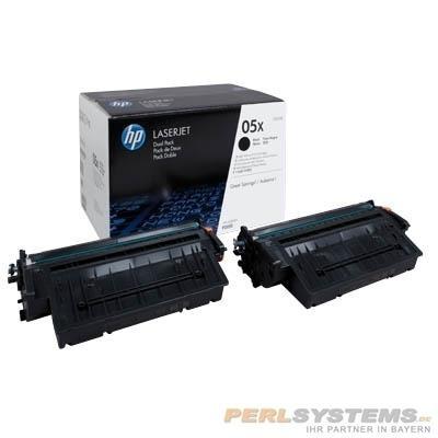 HP 05x Toner Black HC für LaserJet P2055 Doppelpack 2x 6.500 Seiten