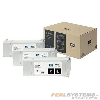 HP 81 Tintenpatrone schwarz 3er Pack