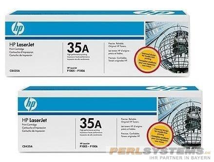 HP 35A Toner Black Doppelpack für LJ P1005 LJ1006 LJ P1007 P1009