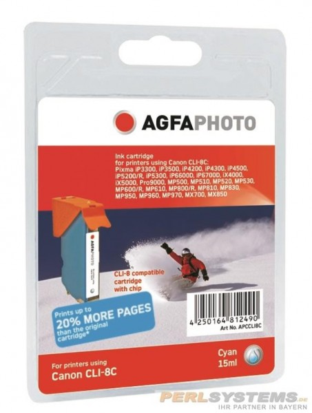 AGFAPHOTO CCLI8C Canon MP800 Tinte cyan