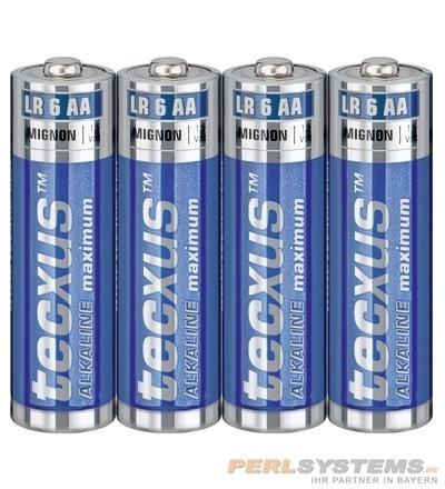 Tecxus Alkaline Mignon AA 1,5V VPE 4 Stück pro Pack