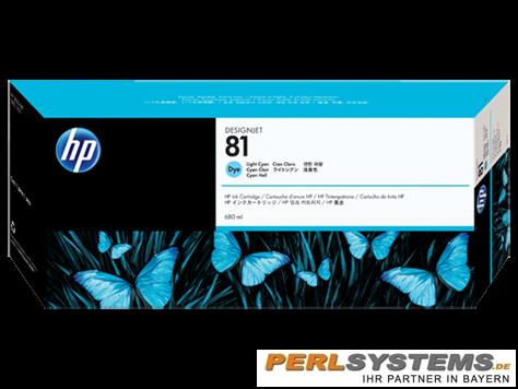 HP 81 Tinte Cyan hell für HP DesignJet 5000 Serie