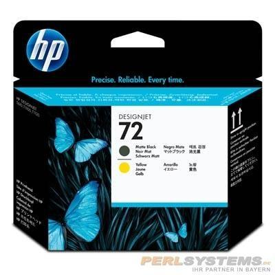 HP 72 Druckkopf Schwarz matt + Gelb für DesignJet T700 T1100 T1200 T2300