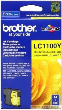 Brother Tintenpatrone Yellow LC1100Y