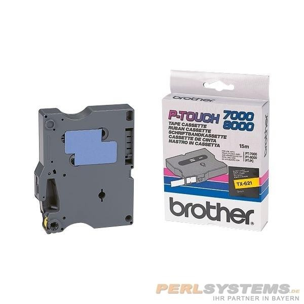 Brother TX221 P-TOUCH 9mm Schwarz auf Weiß P-Touch 7000 8000 PC
