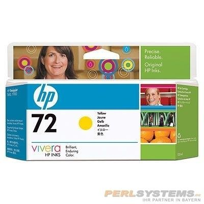 HP 72 Tinte gelb für DesignJet T700 T1100 T1200