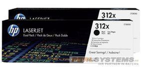 HP 312XD Toner Black für LaserJet Pro 400 Color MFPM476 Doppelpack