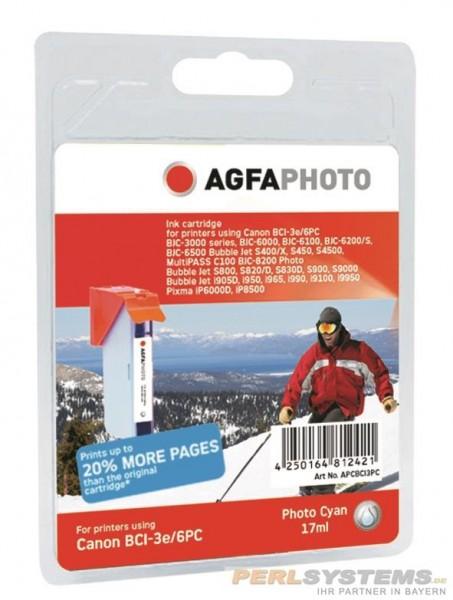 AGFAPHOTO CBCI3PC Canon BJC-6000 Tinte photo cyan