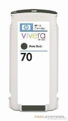 HP 70 Tinte schwarz matt No.70 mit HP Vivera Tinte