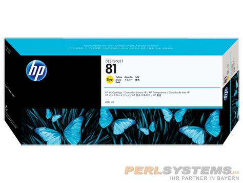 HP 81 Tinte Gelb für HP DesignJet 5000 Serie