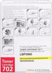 Canon 702 Toner Cartridge Yellow LBP5970 LBP5975 9642A004