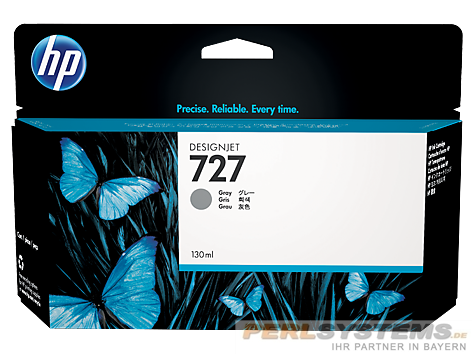 HP 727 Tinte grau für DesignJet T920 T1500 T2500
