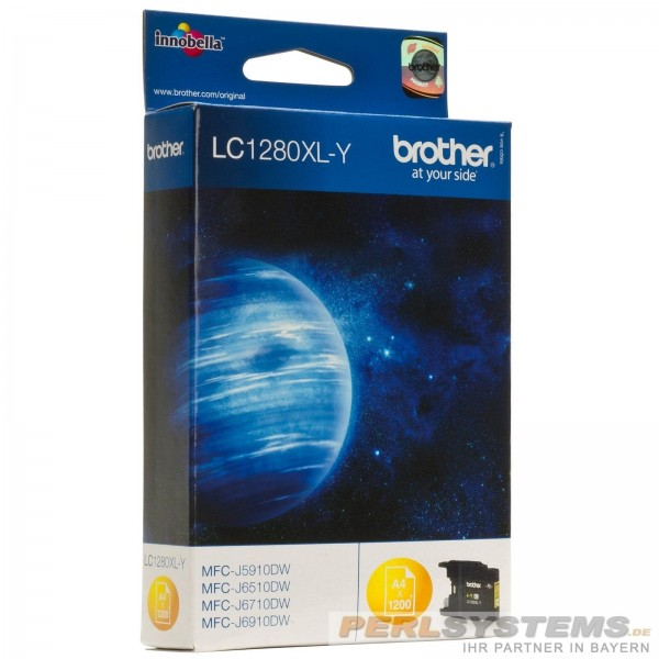 Brother LC1280XL Tinte Yellow MFC-J6510DW MFC-J6710DW MFC-J6910DW