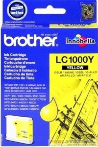 Brother Tintenpatrone Yellow LC1000Y