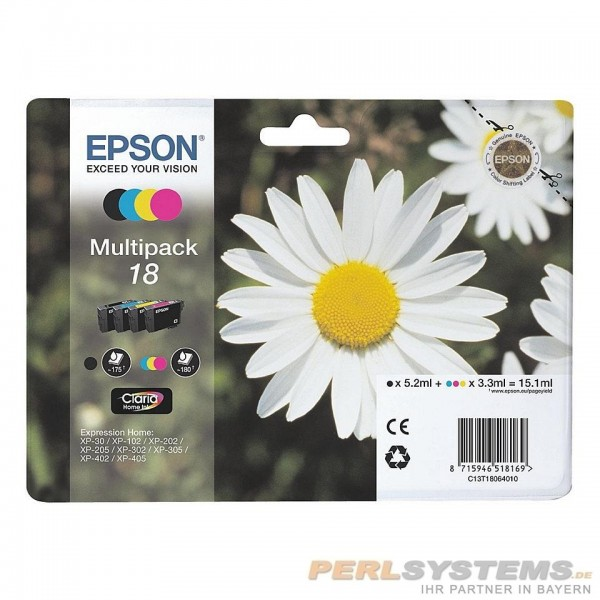 Epson T180640 Tinte Multipack Expression Home XP-102