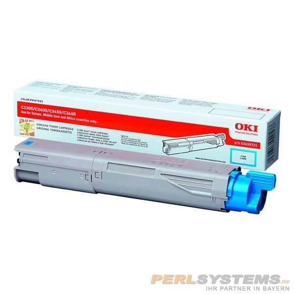OKI Toner Cyan für C3300 C3400 C3450 C3600 HC