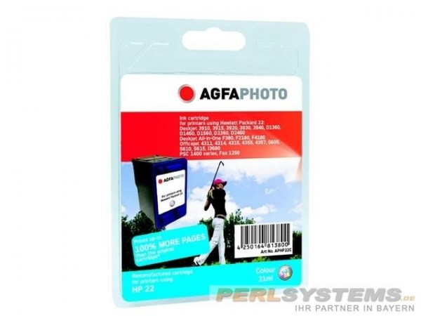 AGFAPHOTO HP22C HP PSC1410 Tinte Color
