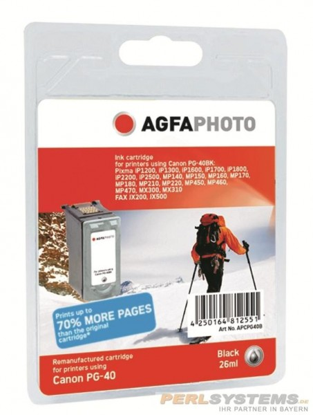 AGFAPHOTO CPG40B Canon MP450 Tinte black